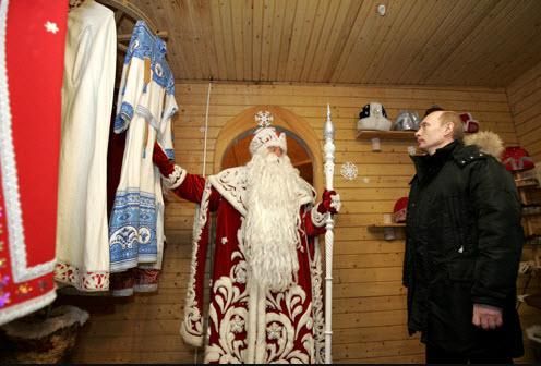 Na obisku pri dedku Mrazu: ruski predsednik Vladimir Putin Vir: Wikipedia