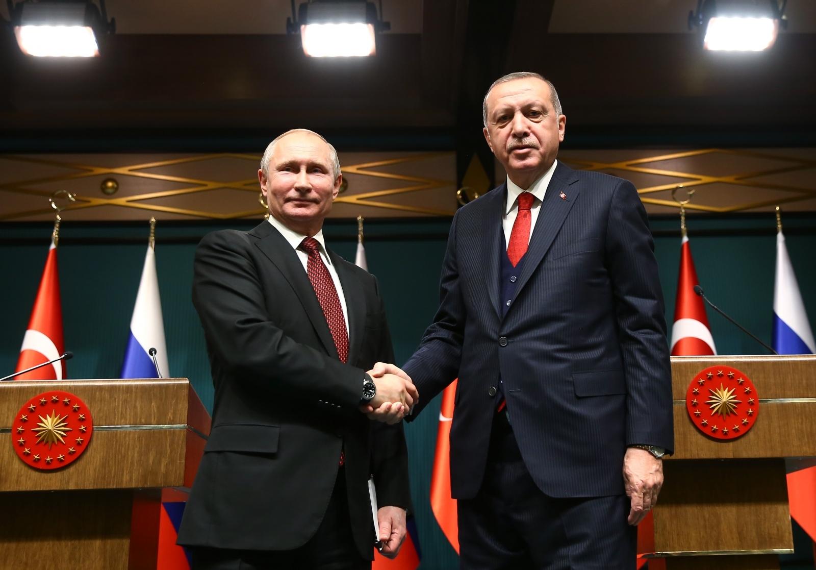 Putin in Erdogan Vir:Pixsell
