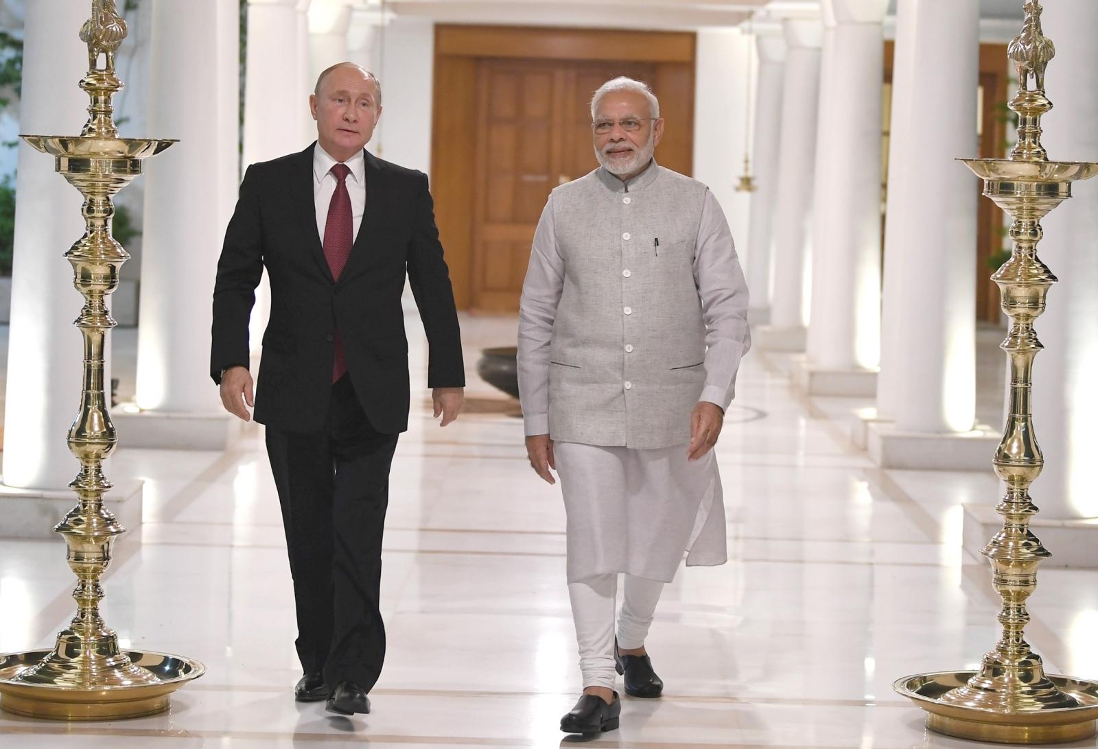 Predsednika Putin in Modi Vir:Pixell