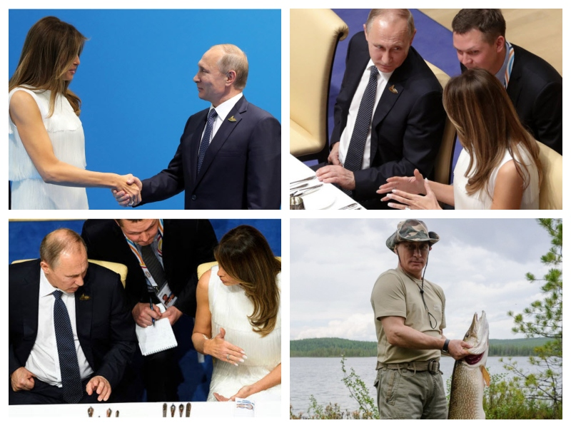 Putin in Melania in ribiške
