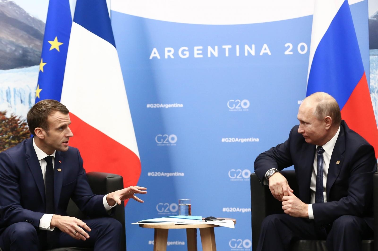 Macron in Putin, G-20 Vir:Pixell