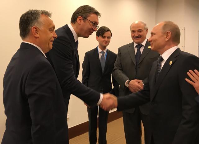 Viktor Orban, Aleksandar Vučić, Vladimir Putin