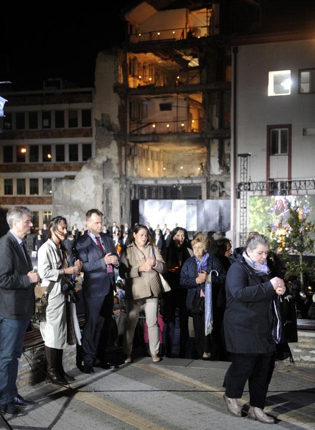 Komemoracija pred RTS, Beograd