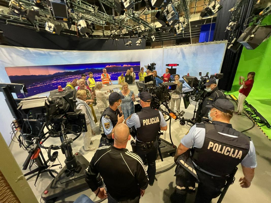 RTV Slovenija, policija