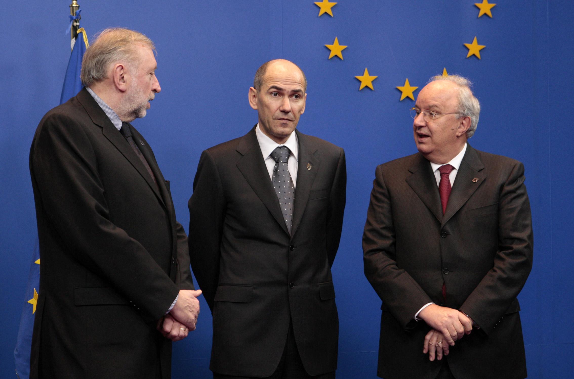 Rupel, Janša, Bajuk Vir: eu2008.si