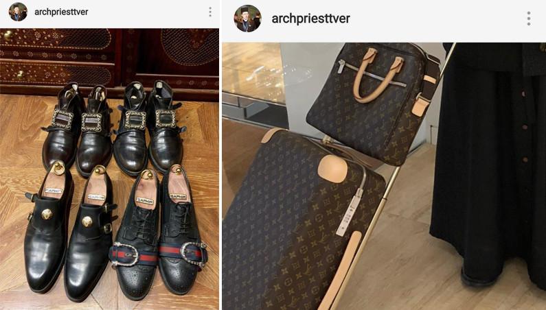 Duhovnik in dragi modni dodatki Vir:Instagram