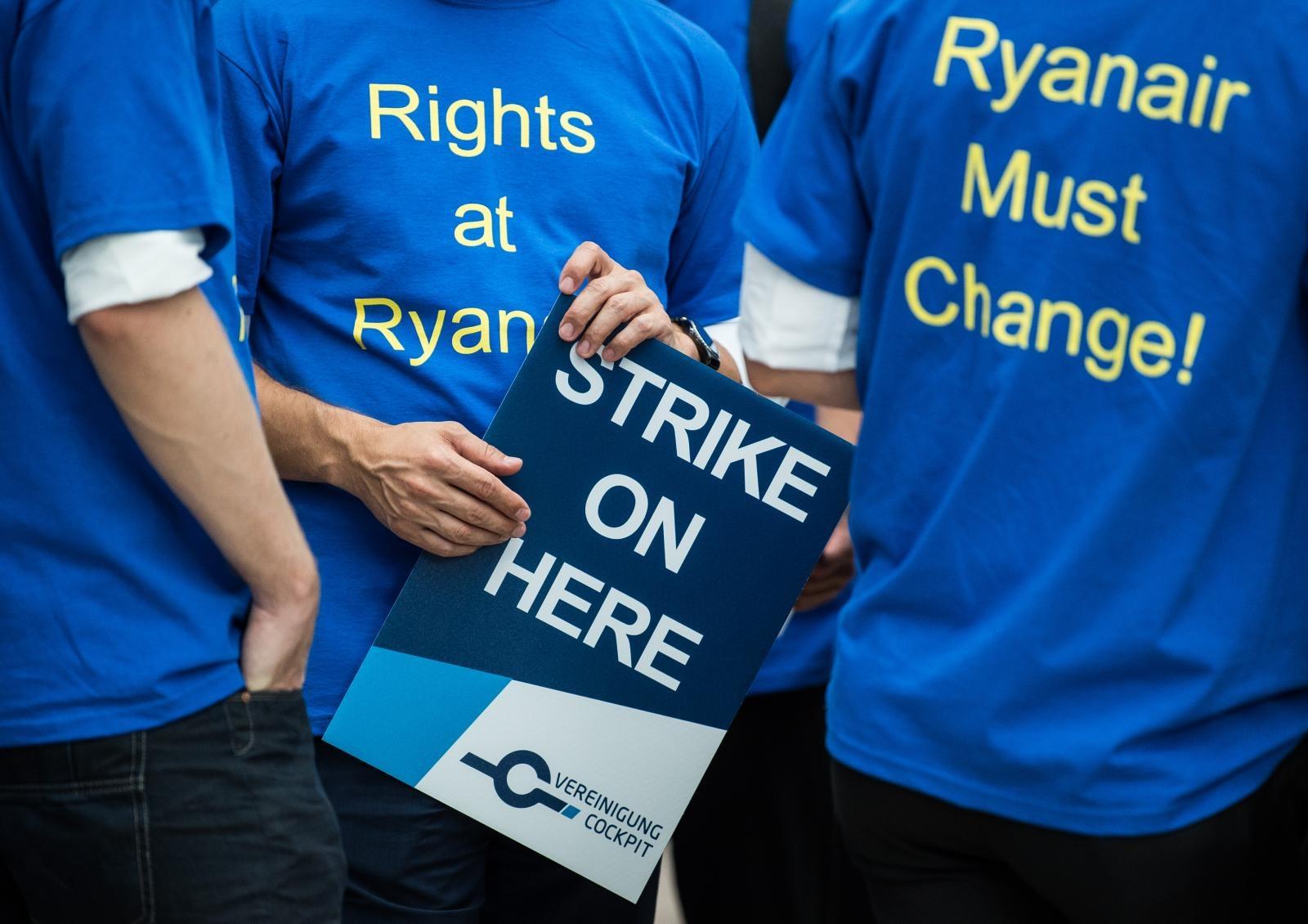 Stavka delavcev Ryanaira Vir:Pixell