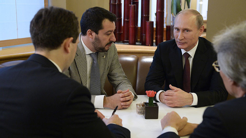 Salvini in Putin Vir:RT