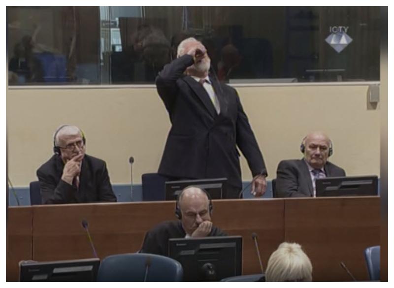 Slobodan Praljak - slika samomora ICTY