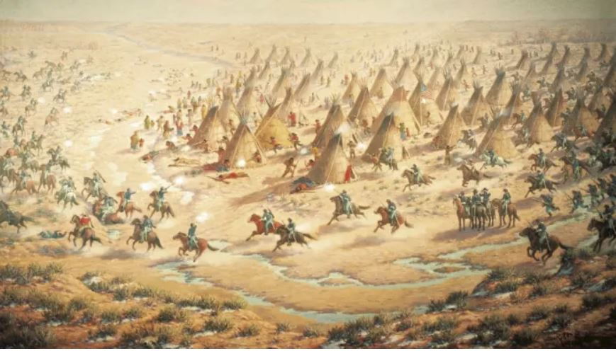 Sand Creek Massacre, 1864. Vir: DeAgostini/Getty Images