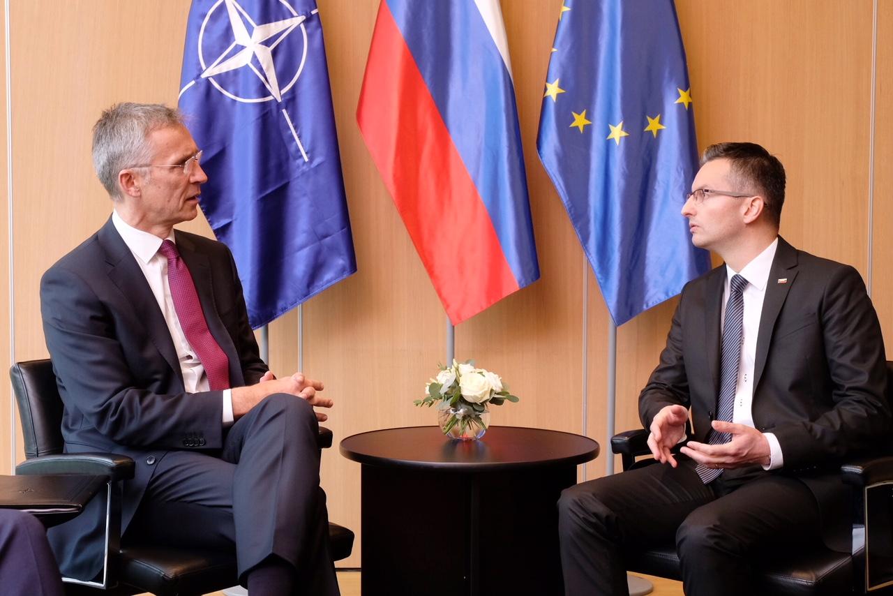Šarec in Stoltenberg Vir:NATO