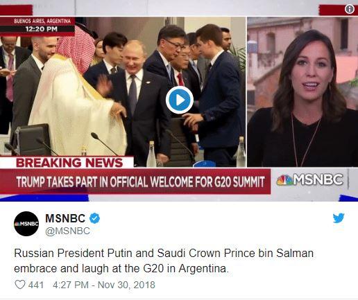 Mohamed bin Salman in Vladimir Putin - petka Vir:Twitter
