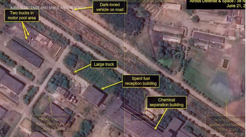 Severna Koreja - satelitski posnetek jedrskih naprav Vir; 38 North