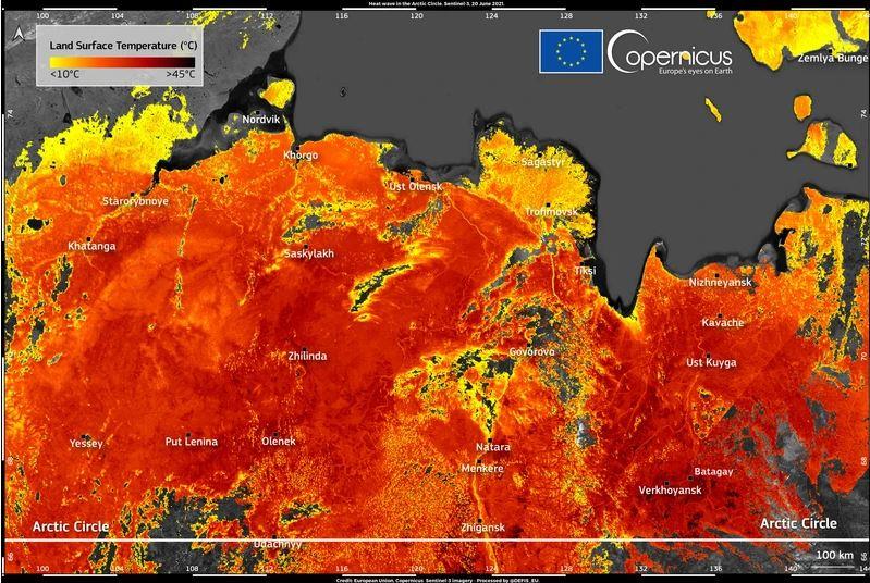 Sibirija v ognju  Vir: Copernicus