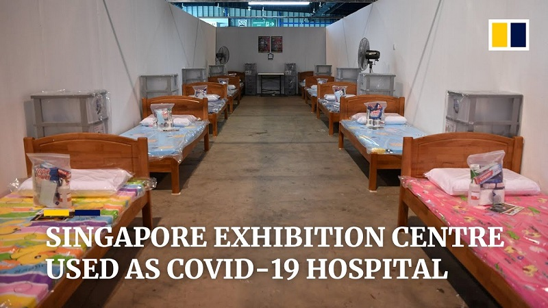 Covid bolnišnica v Singapuru