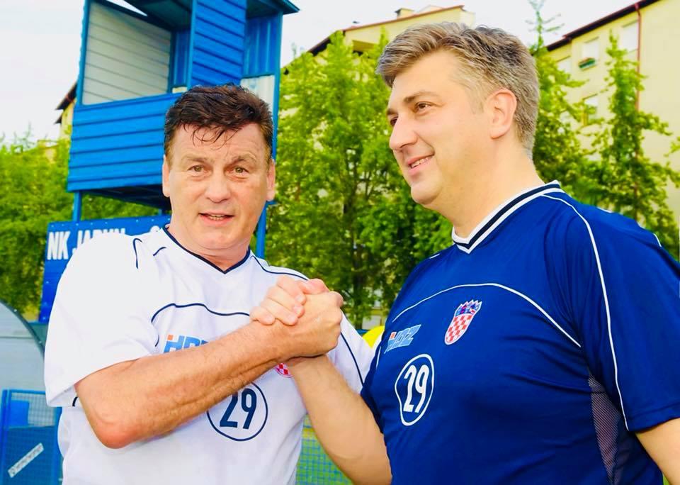 Andrej Plenković in Damir Škaro