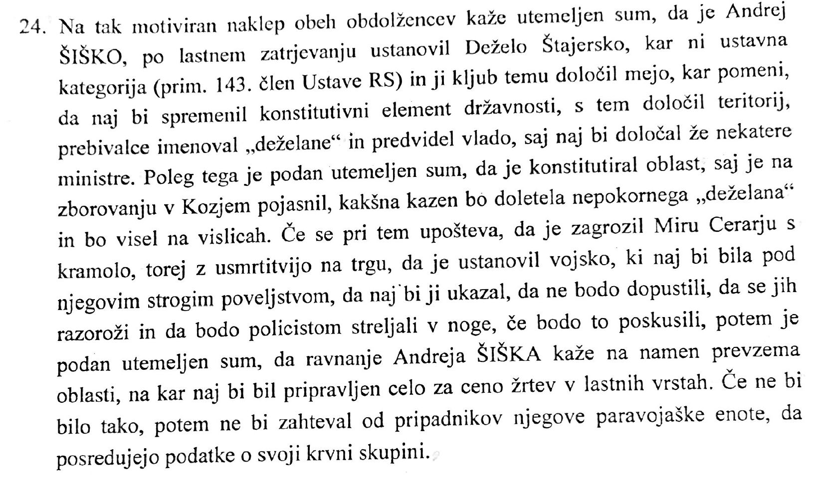 Sklep Okrožnega sodišča Maribor, 24 točka, Andrej Šiško