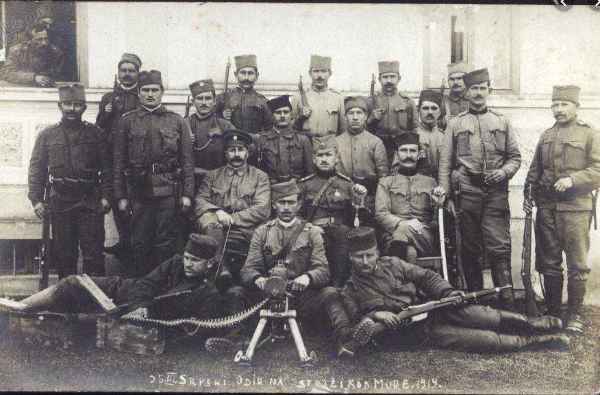 Srbski vojaki v Prekmurju
