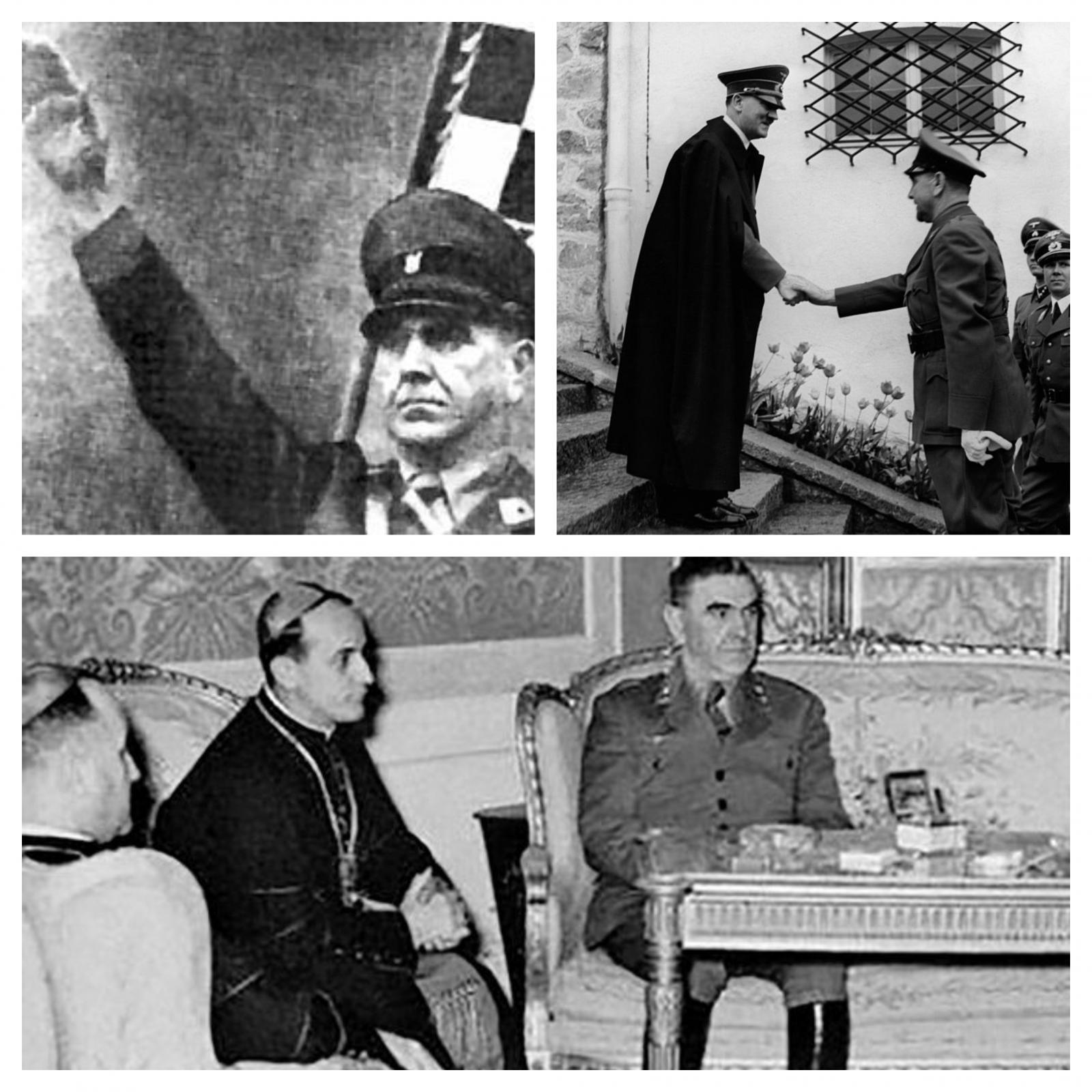 Alojzije Stepinac, Ante Pavelić in Adlof Hitler