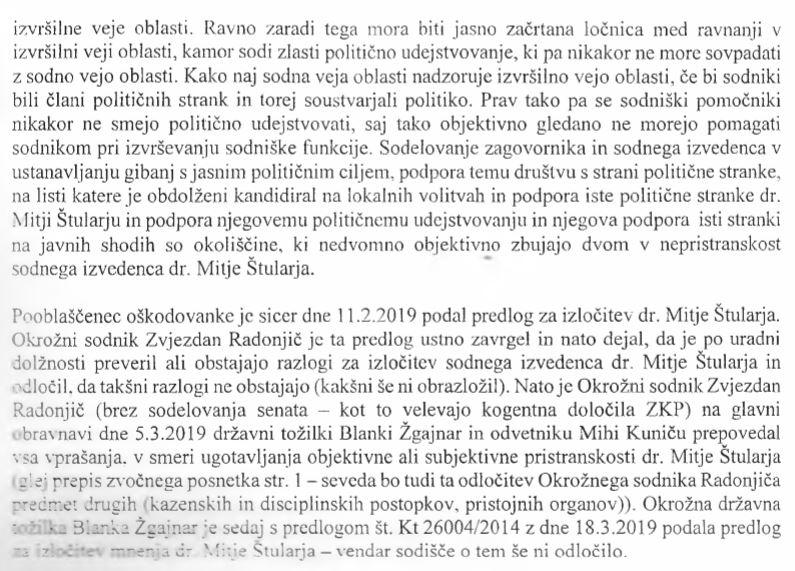 Miha Kunič - izločitev Mitje Štularja