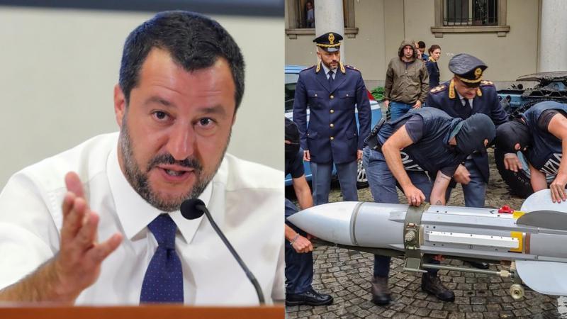 V Italiji razkrili neonacistično skupino, ki je grozila s smrtjo Salvijiju, zasegli številne puške in celo rakete