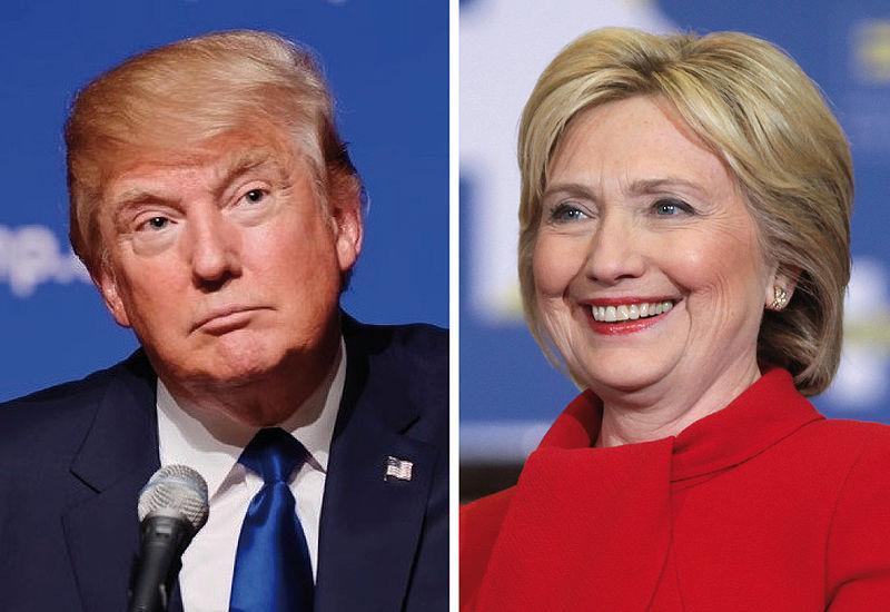 Clintonova napadla Trumpa, ki jo je prvič po maju prehitel