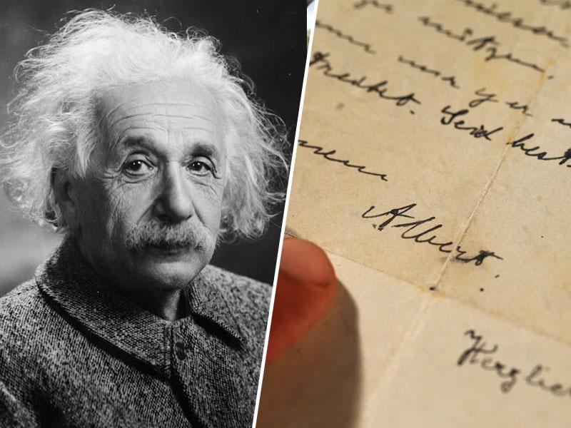 V ZDA za rekordno vsoto prodali Einsteinovo »Božje pismo«
