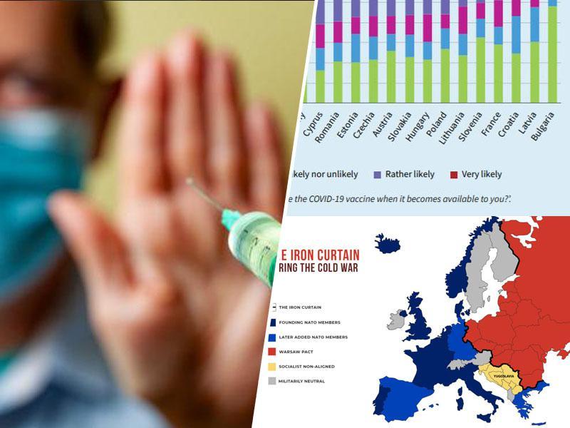Proticepilska železna zavesa: Slovenija po odporu cepljenju še vedno v vzhodni, ne pa v zahodni Evropi