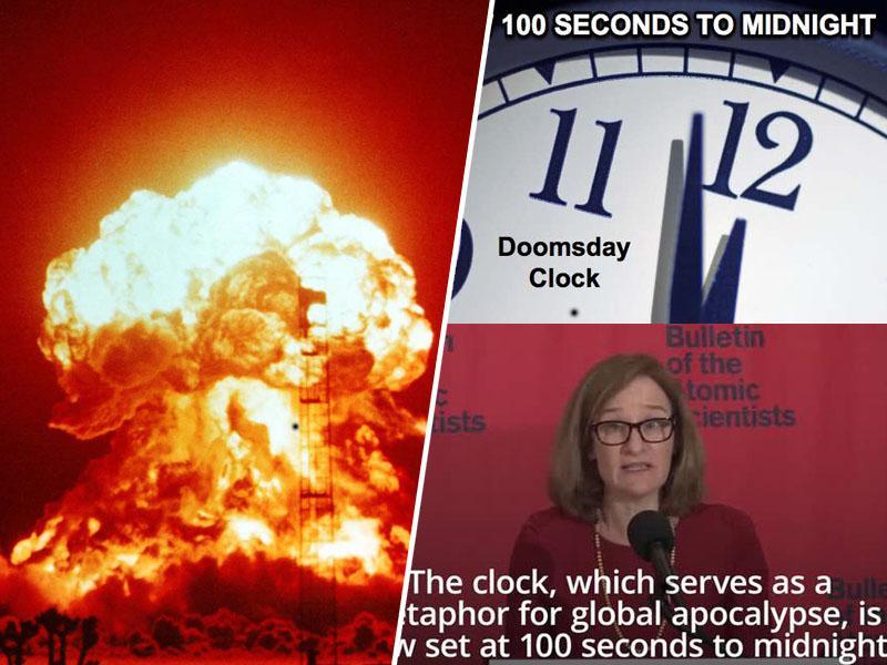 Nevaren rekord: ura apokalipse se je ustavila na samo sto sekund do globalne jedrske katastrofe