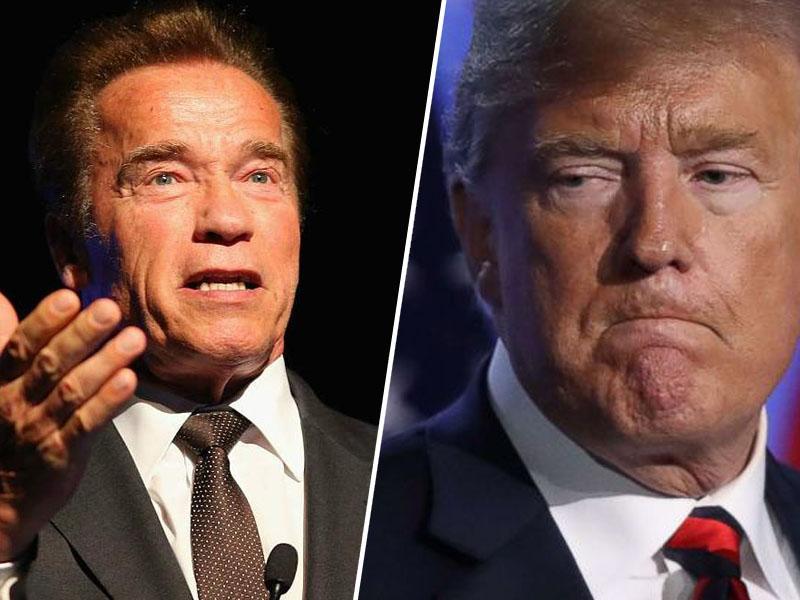 Schwarzenegger o Trumpu: »Stal si tam kot majhen, vlažen rezanec«