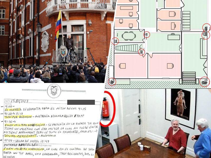 Assangeu prisluškovali in ga snemali celo v veleposlaništvu Ekvadorja, posnetke dobile »obveščevalne službe ZDA«