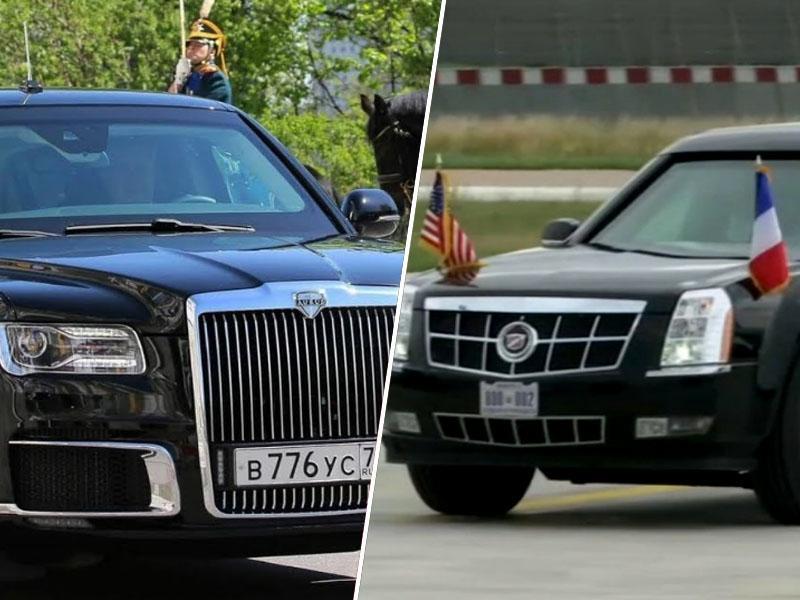 Putin in Trump v Helsinkih vsak s svojo luksuzno limuzino