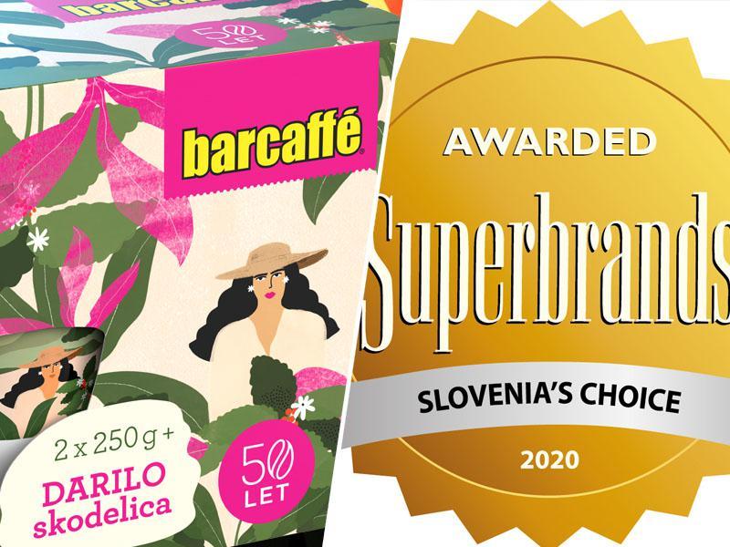 Barcaffè : Kava, ki prebuja večino Slovencev v klubu Superbrands Slovenija 2020