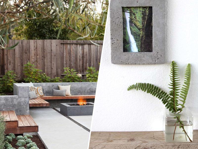 Vrtno pohištvo iz betona lahko izgleda vrhunsko in estetsko