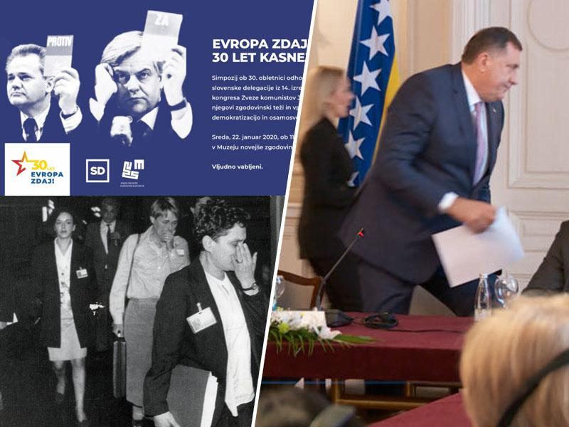 Začetek slovenskega scenarija v okrnjeni Bosni: predstavniki Republike srbske zapustili državne institucije