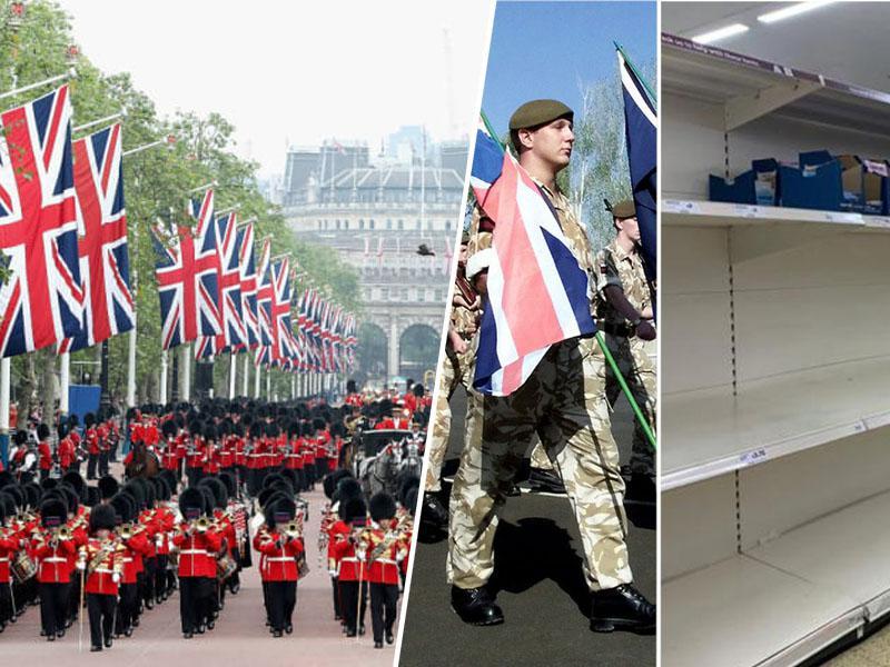 Britanski vladi predlagali vpoklic vojske – zaradi preprečevanja lakote