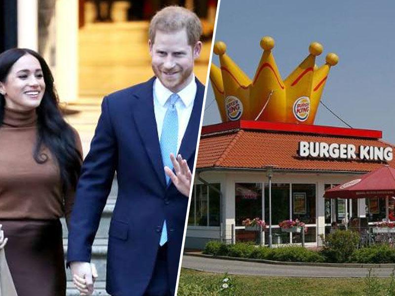 Burger King princu Harryju in princesi Meghan ponudil delo