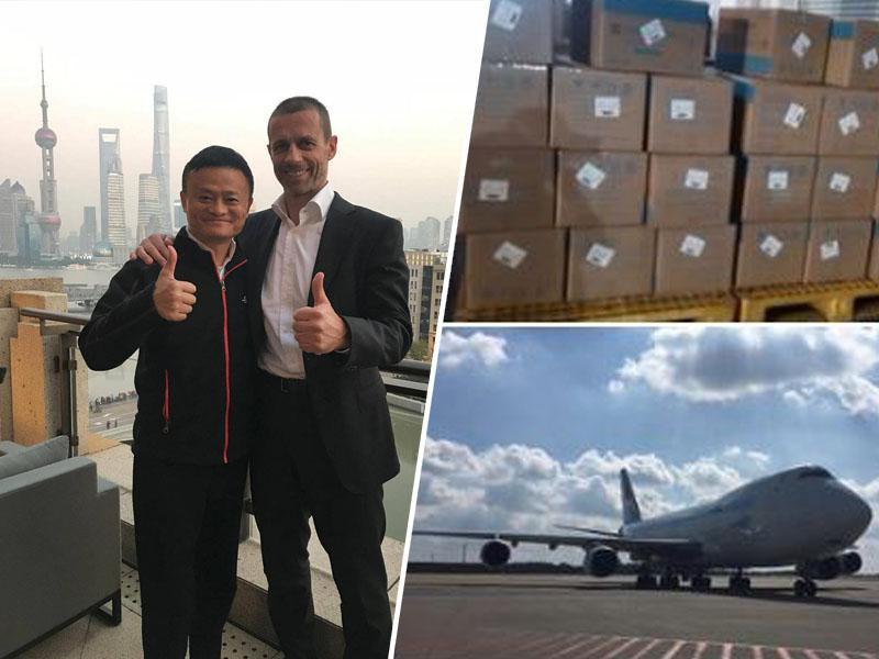 Aleksander Čeferin posredoval, lastnik Alibabe Jack Ma pa ekspresno doniral 300.000 zaščitnih mask za Slovenijo