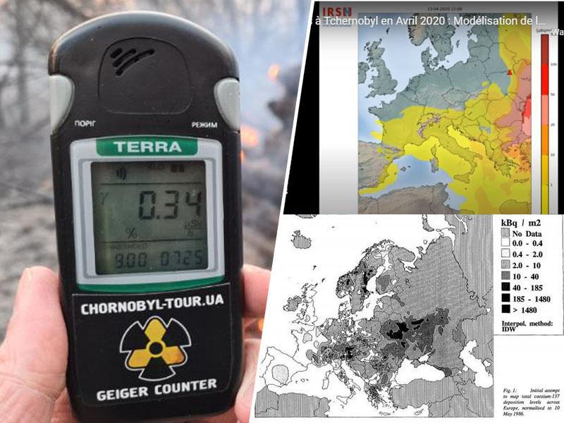 Pepel ob požaru v Černobilu poslabšal kvaliteto zraka in z vetrom prepotoval velik del Evrope