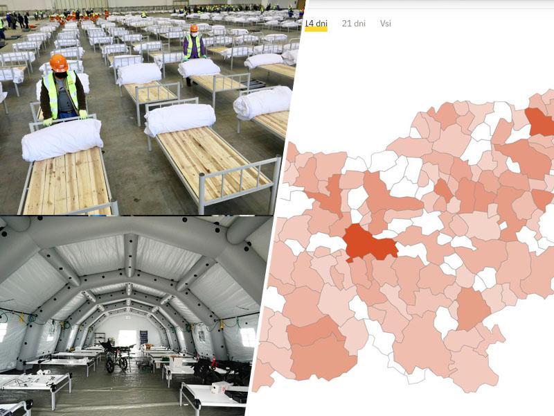 Slovenija brez »Covid bolnišnic«, okužbe podirajo rekorde, vlada pa nadaljuje s staro tehniko: strašenjem prebivalstva