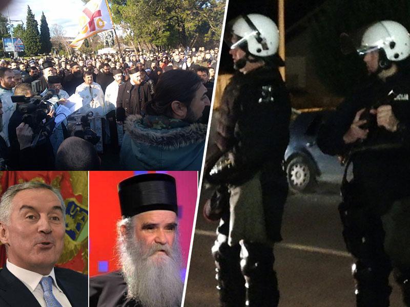 Izredne razmere v Črni gori: nacionalizacija cerkvene imovine SPC sprožila proteste vernikov, blokade in pozive k orožju