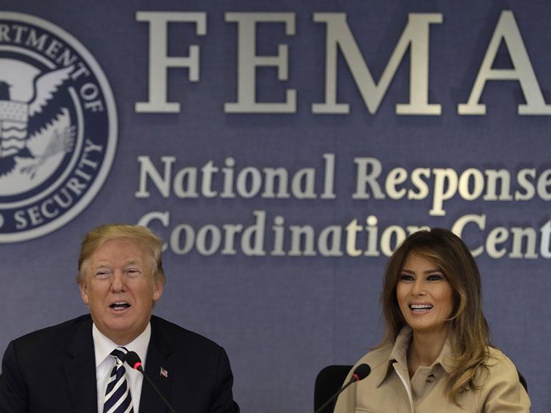 Melania Trump po skoraj mesecu dni v sredo prvič pred kamerami