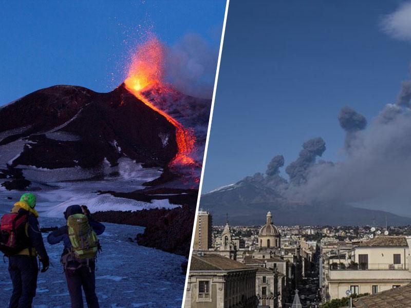 Po »božičnem« izbruhu ognjenika Etna potres nepričakovano stresel Sicilijo