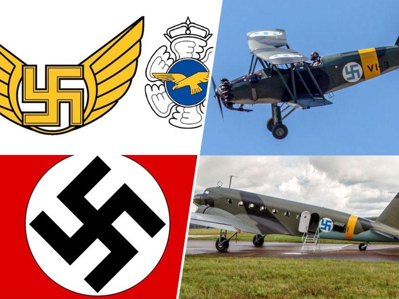 Finsko vojaško letalstvo je iz grba izbrisalo - svastiko