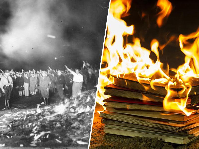 »Janezovi neonacisti mečejo knjige slovenskih literatov v smeti. Same se vsiljujejo vzporednice z letom '33!«