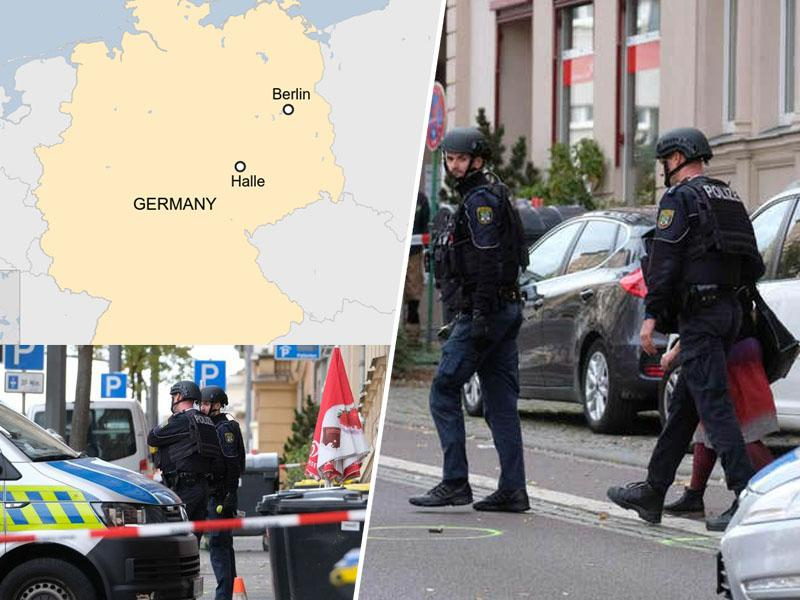 Napad na Žide v nemškem mestu Halle: v streljanju ubita dva človeka
