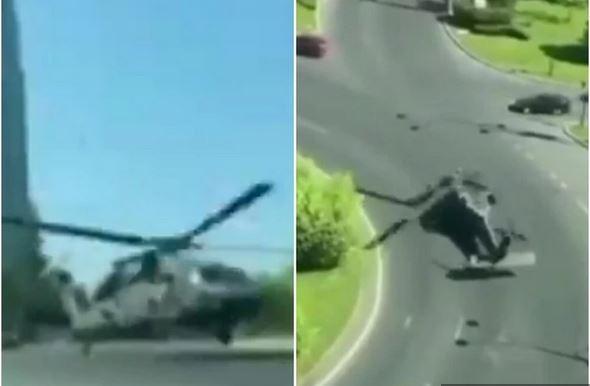 Kaos v Bukarešti: Ameriški vojaški helikopter strmoglavil na cesto, podrl dva semaforja in povzročil preplah