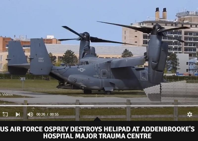 Nespretno: Vzlet ameriškega helikopterja odpihnil vzletišče
