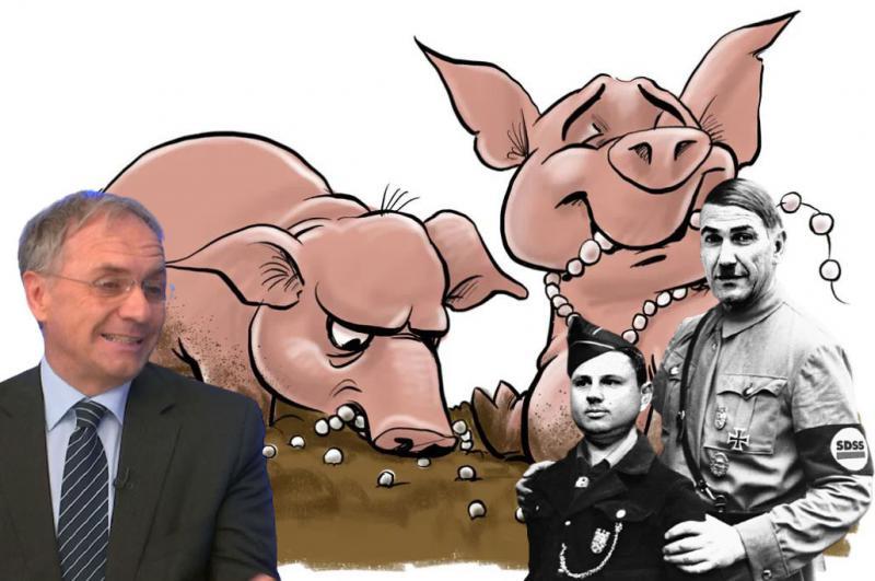 Absurd: Ljubitelj neonacistov Aleš Hojs podpira neonacistične rumenosrajčnike in nasprotnike nacizma obtožuje - nacizma!