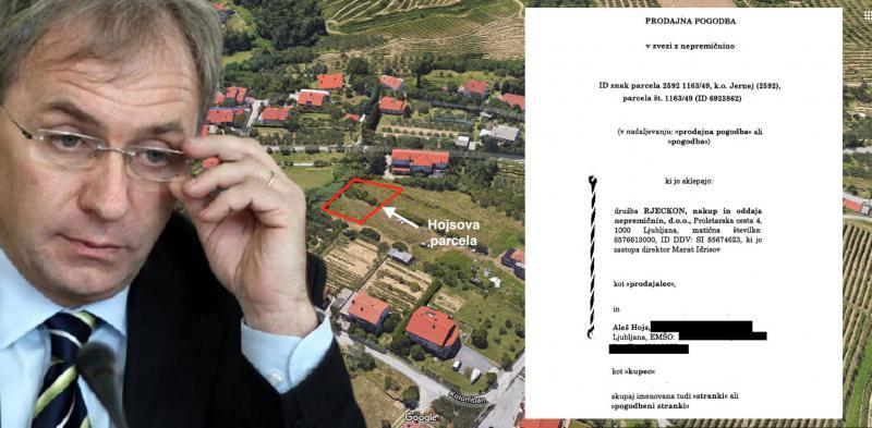 Do parcele pod ceno: Zaradi suma korupcije ob nakupu svoje parcele bi Aleš Hojs moral preiskati – samega sebe